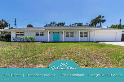 Indialantic Single Family Home For Sale: 585 Bahama Drive