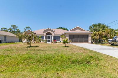 Palm Bay Single Family Home For Sale: 435 Lamkin Street SW