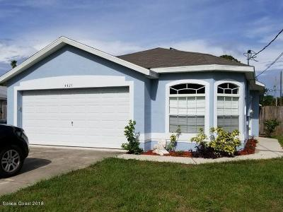 Titusville Single Family Home For Sale: 4425 Coquina Avenue