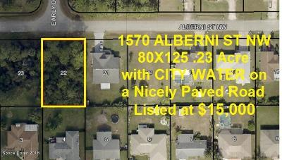 Brevard County Residential Lots & Land For Sale: 1570 Alberni Street NW