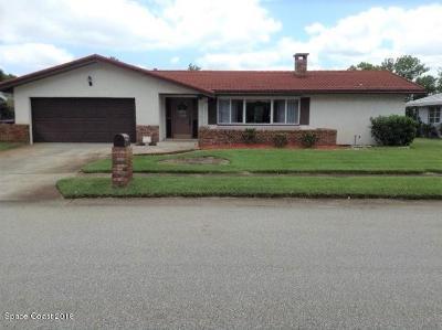 Titusville Single Family Home Backups: 4125 Tiwa Lane