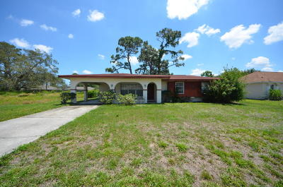 Palm Bay FL Single Family Home For Sale: $134,900