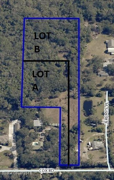 Cocoa Residential Lots & Land For Sale: Lot B Cox (Lot B)