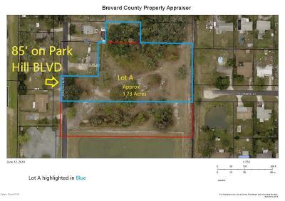 West Melbourne Residential Lots & Land For Sale: Park Hill Boulevard #LOT A