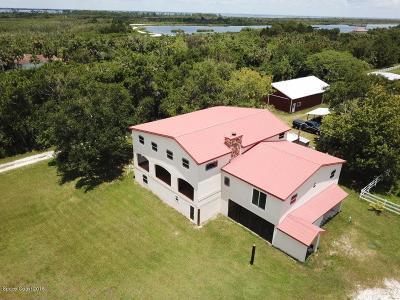 Merritt Island Single Family Home For Sale: 1900 Pine Island Road