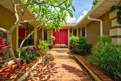 Merritt Island Single Family Home For Sale: 120 E Crisafulli Road E