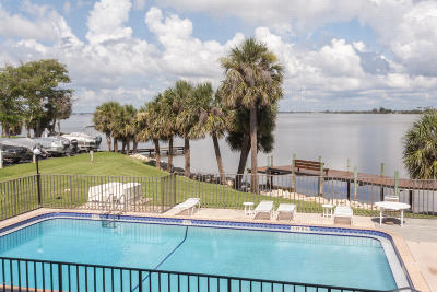 Cocoa Beach Condo For Sale: 3833 S Banana River Boulevard #202