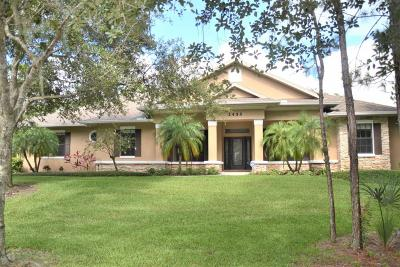 Brevard County Single Family Home For Sale: 2455 Woods Lane