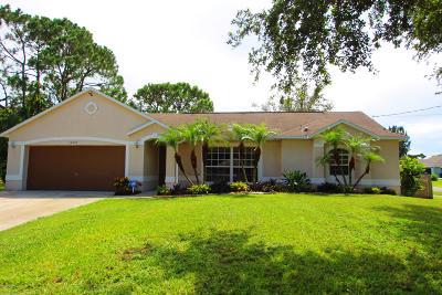Cocoa Single Family Home For Sale: 5357 Maravoss Street