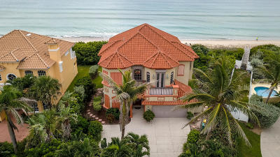 Viera, Melbourne, Melbourne Beach, Indialantic, Satellite Beach, Indian Harbour Beach, Cocoa Beach, Eau Gallie, West Melbourne, Cape Canaveral Single Family Home For Sale: 7665 S Highway A1a