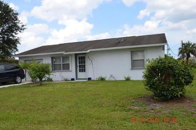 Sebastian Single Family Home For Sale: 117 Crawford Drive