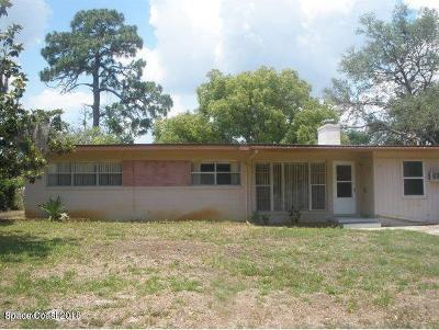 Titusville Single Family Home For Sale: 24 S Hilltop Drive S