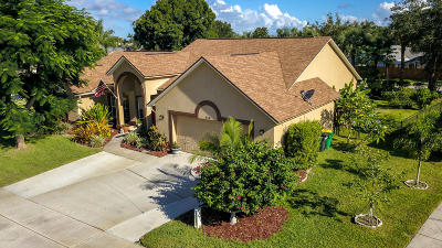 Merritt Island Single Family Home For Sale: 630 Sunset Lakes Drive