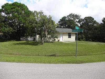 Palm Bay FL Single Family Home For Sale: $120,000