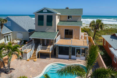 Viera, Melbourne, Melbourne Beach, Indialantic, Satellite Beach, Indian Harbour Beach, Cocoa Beach, Eau Gallie, West Melbourne, Cape Canaveral Single Family Home For Sale: 123 S Atlantic Avenue S