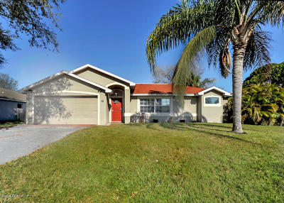 Palm Bay FL Single Family Home For Sale: $214,900