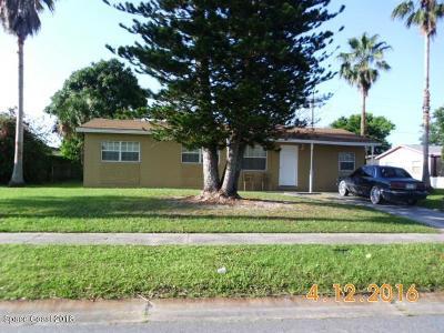 Cocoa Single Family Home For Sale: 3831 Ellis Drive