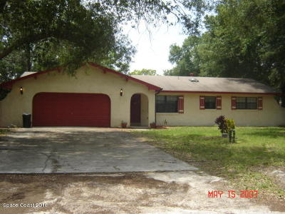Mims Single Family Home For Sale: 6050 Mangrove Street