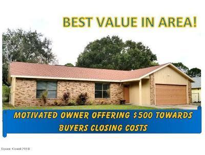 Palm Bay Single Family Home For Sale: 2116 Sans Souci Avenue SE