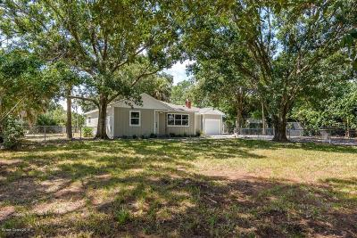Merritt Island Single Family Home Backups: 1055 N Tropical Trail N