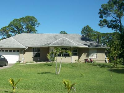 Palm Bay FL Single Family Home For Sale: $215,000