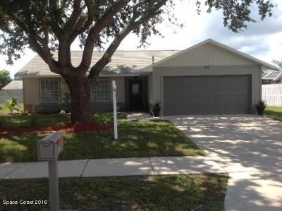 Rockledge Single Family Home Contingent: 823 Emerald Way