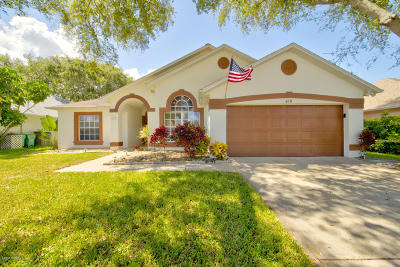 Merritt Island Single Family Home For Sale: 618 Heather Stone Drive