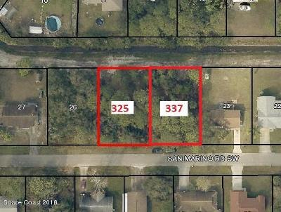 Palm Bay Residential Lots & Land For Sale: 325 San Marino Road SW