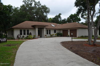Titusville Single Family Home For Sale: 5050 Kirkwood Trail