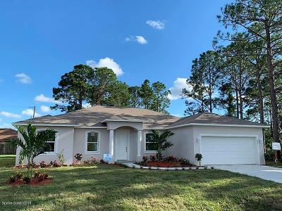 Palm Bay Single Family Home For Sale: 492 Australian Road NW