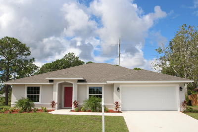 Palm Bay Single Family Home For Sale: 330 Ixora Avenue NW