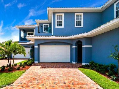 Viera, Melbourne, Melbourne Beach, Indialantic, Satellite Beach, Indian Harbour Beach, Cocoa Beach, Eau Gallie, West Melbourne, Cape Canaveral Townhouse For Sale: 154 Mediterranean Way