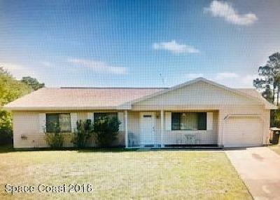 Palm Bay FL Single Family Home For Sale: $144,900