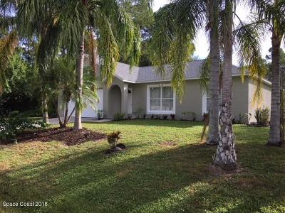 Palm Bay FL Single Family Home For Sale: $174,900