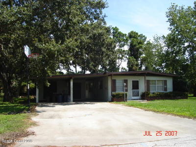 Rockledge Single Family Home For Sale: 1008 Green Road