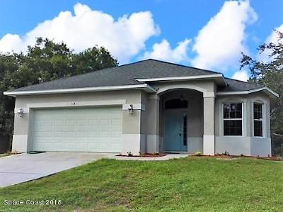 Palm Bay Single Family Home For Sale: 1631 Talavera Street SE