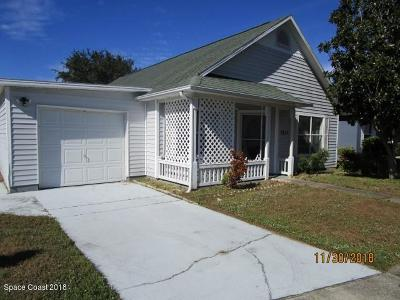Melbourne FL Single Family Home For Sale: $167,000