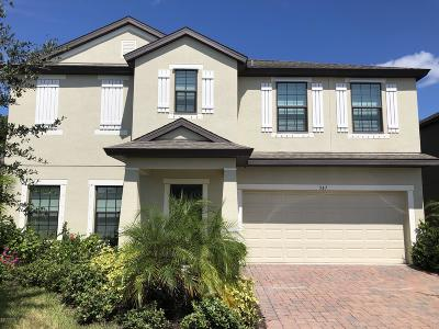 Palm Bay Single Family Home For Sale: 547 Trymore Drive SE