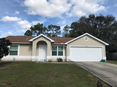 Palm Bay Single Family Home For Sale: 1559 NW Lombard Street NW