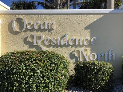 Satellite Beach Townhouse For Sale: 255 Ocean Residence Court
