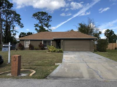 Palm Bay Single Family Home For Sale: 1461 NW Healey Street NW
