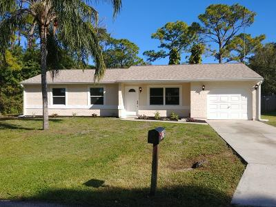 Palm Bay FL Single Family Home For Sale: $189,000