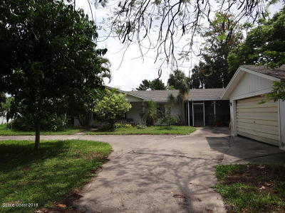 Brevard County Single Family Home For Sale: 10900 S Tropical Trail S
