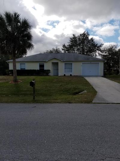Sebastian Single Family Home For Sale: 1169 Persian Lane