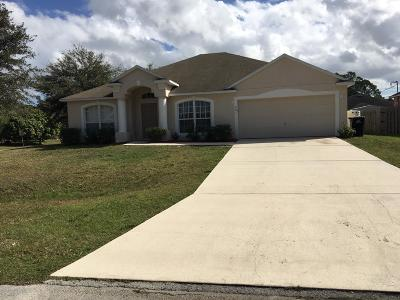 Palm Bay Single Family Home For Sale: 201 SW Sarah Road SW