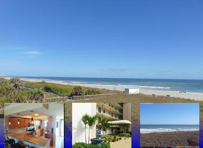 Cocoa Beach Condo For Sale: 4100 Ocean Beach Boulevard #312
