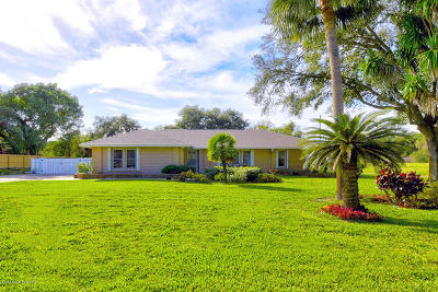 Merritt Island Single Family Home For Sale: 4293 Crooked Mile Road