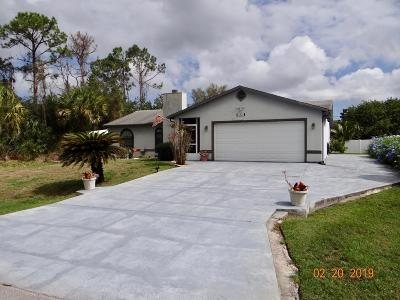Palm Bay Single Family Home For Sale: 1301 SE Buffing Circle SE