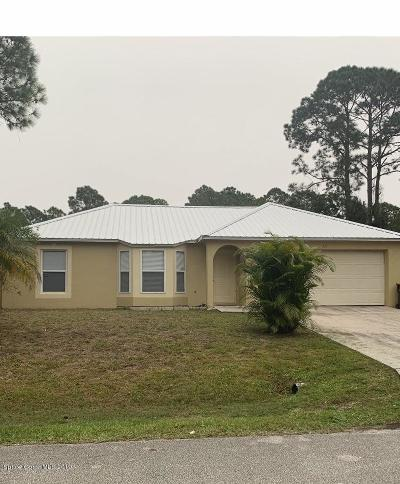 Palm Bay FL Single Family Home For Sale: $165,500