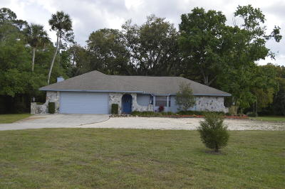Cocoa Single Family Home For Sale: 3485 Canaveral Groves Boulevard